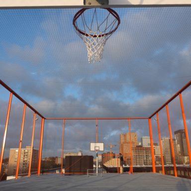 Basketbalkooi met veiligheidsnetten - Carl Stahl