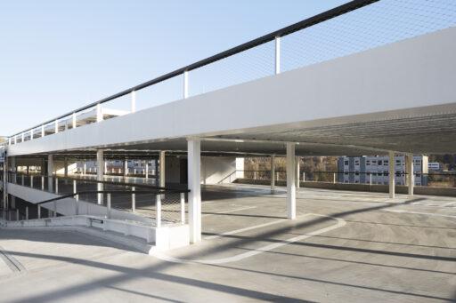Balustrades met RVS kabelnetten in SBA - IMEC Parking in Leuven (Luca Beel) - Carl Stahl Benelux