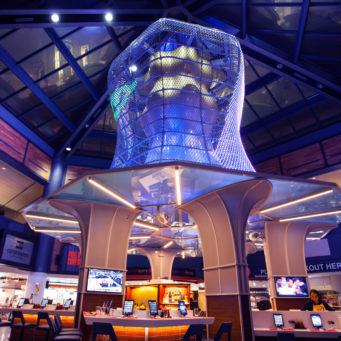 Airport New Ark Illumination - kabelnetten met LED verlichting - Carl Stahl