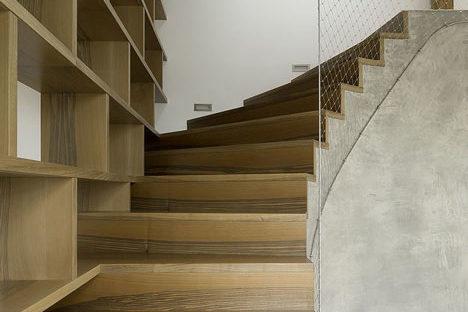 Prag, Rounded-Loft-by-A1Architects_6_ Kabelnetten als valbeveiliging trappen_ Carl Stahl