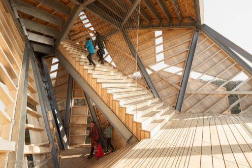 Uitkijktoren Pompejus met RVS kabelnetten ter beveiliging van het uitkijkpunt - Carl Stahl Benelux